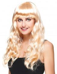 Lyxiga Lily - Blond lång peruk med vågor för vuxna