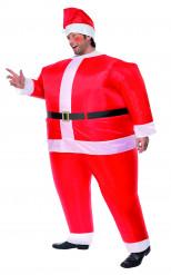 Uppblåsbara tomten - Maskeraddräkt för vuxna till jul