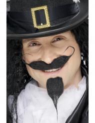 Mustasch och skägg riddare vuxen