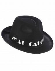 Svart Al Capone hatt för vuxna till maskeraden