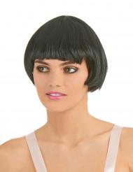Svart peruk i charleston-stil