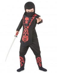 Dödskalle ninja - Maskeraddräkt för barn