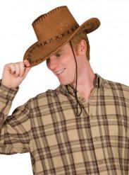 Cowboy-hatt brun vuxen