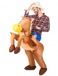 Uppblåsbar hästdräkt vuxna