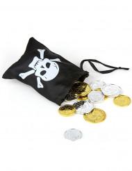 Piratskatt med liten väska