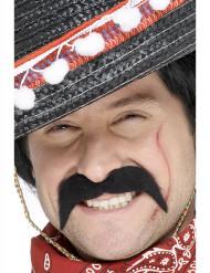 Svart mustasch mexikansk bandit vuxen
