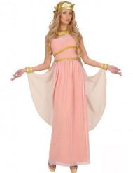 Grekiskgudinna-dräkt rosa damstorlek