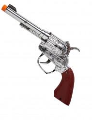Cowboypistol med ljus i plast