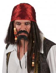 Mustasch och skägg pirat vuxen