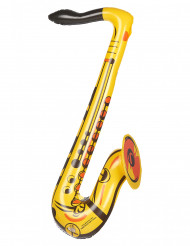 Saxofon gul uppblåsbar