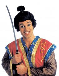 Kort samurai peruk för vuxna