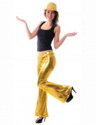 Gyllene discobyxor för vuxna till maskeraden