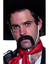 Svart mustasch västern mexikan vuxen