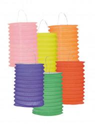 12 lyktor i färg 13 cm