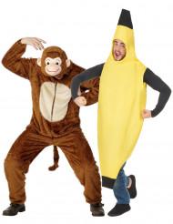 Apa och Banan pardräkt vuxen