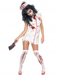 Zombie-sjuksköterska - Dräkt för vuxna till Halloween