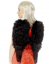 Svarta vingar med fjädrar Vuxen