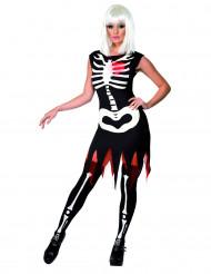 Skelettdräkt vuxen Halloween