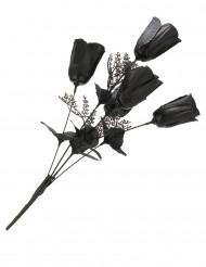 Bukett av svarta rosor