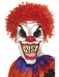 Skrämmande clownmask Halloween