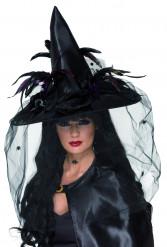 Häxhatt i svart och spindlar Halloween