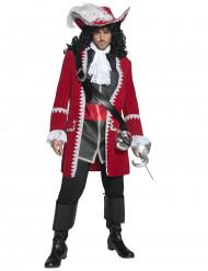Röd piratkapten - utklädnad vuxen