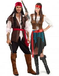 Piratdräkt för Par - Lyxig