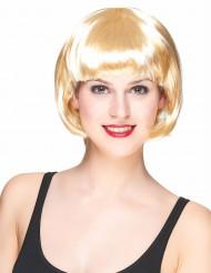Peruk med kort blont hår