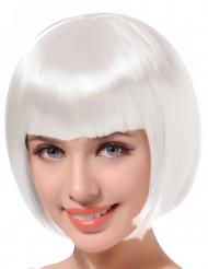 Peruk kort hår vit