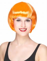 Peruk kort hår Orange