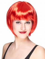 Peruk med kort rött hår