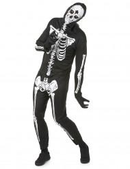 Skelettkostym Hallowen vuxen