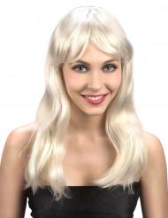 Lyxig blondin - Peruk med blonthår till maskeraden