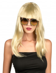 Peruk Blond med lugg
