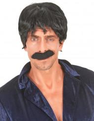 Svart peruk för vuxna - Discokungen
