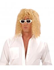 Peruk blond Sångare Vuxen