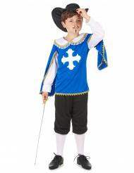 Blå musketör dräkt barn