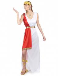 Romersk gudinnedräkt med röd slöja - Maskeradkläder för vuxna