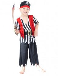 Pirat med bandana och ränder - Maskeradkläder för barn