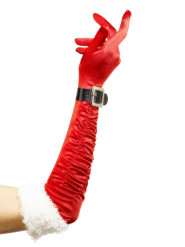 Långa tomtemor handskar