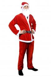 Komplett jultomtedräkt för vuxna