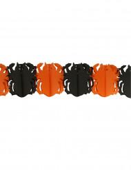 Svart och orange spindelgirlang - Halloweenpynt