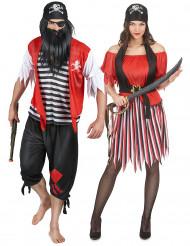 Dödskalle-pirater - Piratdräkt för vuxna