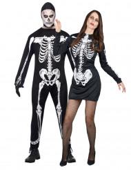 Skelettduo - Halloweenkostym för par