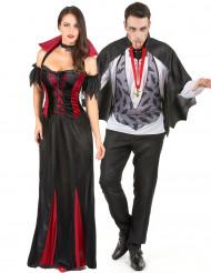 Herr & Fru Blodsugare - Maskeraddräkt för par till Halloween