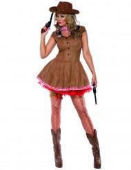 Snygg Cowgirl maskeraddräkt för vuxna
