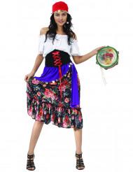 Kostym med zigenarinspirartion dam