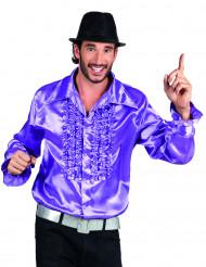 Lila Discoskjorta för vuxna