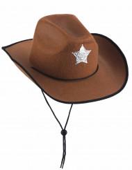 Brun sheriffhatt Barn