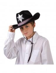 Svart sheriffhatt Barn
